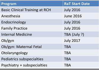 schedule of programs